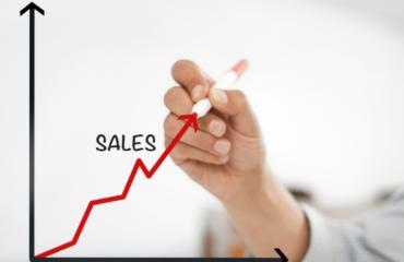 Graph of increasing sales
